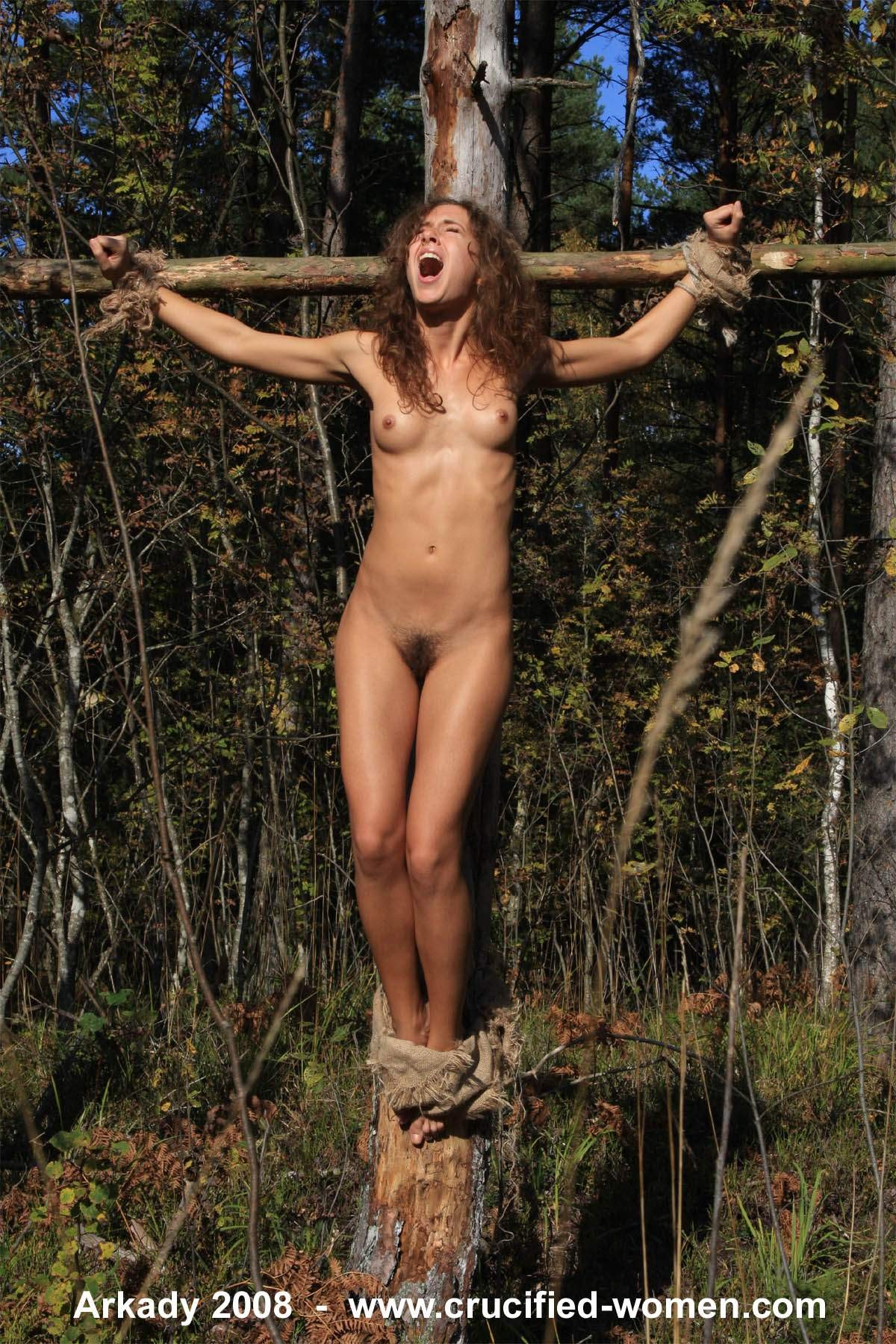 A women naked in pillory sexy picture