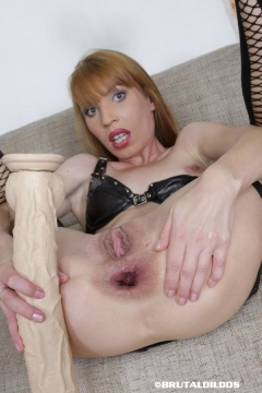 Vanda's brutal anal dildo insertion - N