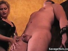 Hot Black Leather Blonde Milf Babe Gets Part6