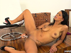 busty-young-isabella-fuck-glass-dildo