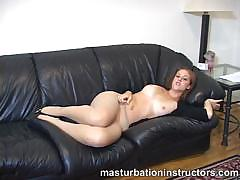 Jerk Off Teacher Slowly Exposes Her Big Tits And Pink Pussy