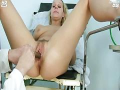 blonde-tina-getting-pussy-speculum-examined-by-gyno-doctor