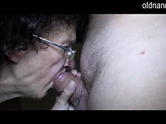 old nanny very old granny 86yo and very horny blowing penis sexy