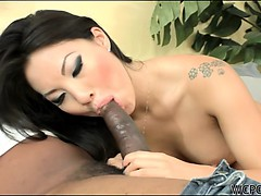Asian hottie Asa Akira loves to suck cock