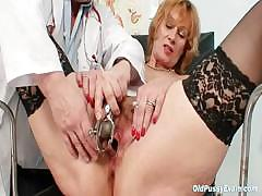 redhead-granny-dirty-pussy-stretching-in-gyn-clinic