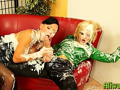 slimy-messy-strapon-party-for-2-ladies