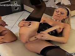 lovely-tight-gal-screwed-rough-with-cock-and-dildo