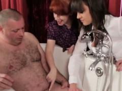 voyeur-mistresses-mock-his-small-cock
