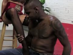 White Feet Worshipped By Black Guy