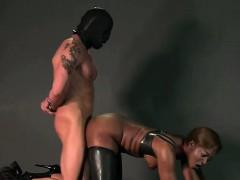 ebony-mistress-spanks-bound-guy-with-gimp-mask
