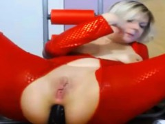 red-pvc-bodystocking-dildoes-ass-3
