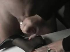 cumming-on-her-nylons