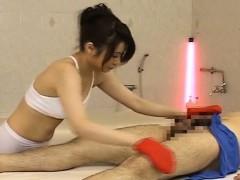 subtitled cfnm japanese spa exfoliating massage handjob