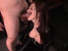japanese-redhead-sex-bomb-in-latex-mouth-fucks-huge-pecker