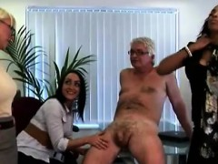 british ladies get revenge on cfnm office perve