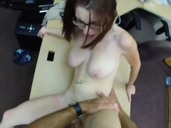 big-natural-tits-babe-in-glasses-pawns-her-pussy-and-fucked