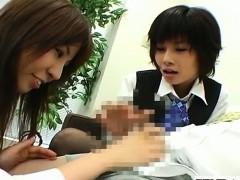 subtitled-cfnm-japanese-office-lady-femdom-threesome