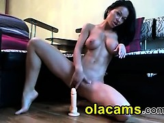 hot-busty-brunette-sucks-and-ride-a-dildo