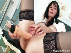filthy old milf nurse got nice monster tits under latex WWW.ONSEXO.COM
