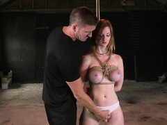 busty-redhead-slave-gets-tits-tied-up-and-ass-spanked