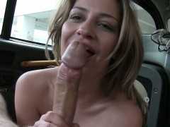 Big boobs passenger ass fucked by perv driver for free