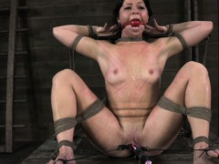 tied-up-bdsm-sub-mia-gold-on-end-of-dildo-stick