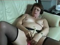 Grandma Masturbating With Adult Toys