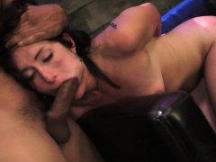 Tied Up Babe Gets Huge Dong In Her Mouth