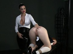 tied-up-redhead-student-slave-licks-her-mistress
