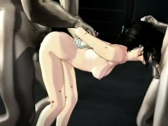 Pretty 3d Anime Babe Gets Double Nailed Online