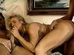 Busty Blonde In A Threesome With Two Guys