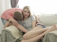 Teeny Lovers - Hot teen enjoys anal creampie