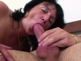 48yr old Step-Mom Caught German Step-Son and Helps with Fuck