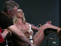 busty-blonde-sub-strapped-in-gyno-chair-squirting