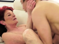 shaved-granny-gets-fingered