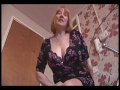 attractive-busty-granny-and-teases-then-shows-off-her-hairy