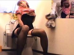 Naughty Girl Toilet Room Masturbation