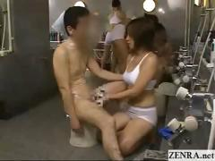 cfnm-busty-japanese-babe-cleans-cock-at-public-spa