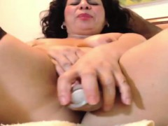 Mature Latina Is Horny For Her Dildo