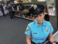 Busty Latina Cop Sells Her Weapon Ends Up Fucked