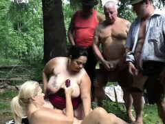 lederhosen-gangbang-in-nature