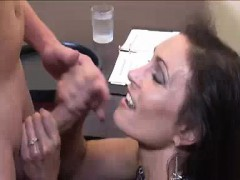 bored milf's got this young guy for today's milking Handjob