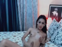 Skinny Slut Wanks Cock Hard
