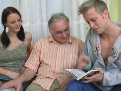 Horny Old Fucker Enjoys Sex With Young Playgirl