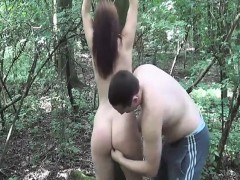 brutally-fisting-her-ruined-teen-pussy-in-a-forest