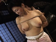 mature-bitch-gets-roped-up-and-hung-in-a-bdsm-session