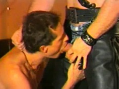 Leather Fetish And Hairy Men Cumshots