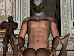 3d babe getting banged by a stud in an eagle mask