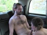 Female cab driver gaggs big cock