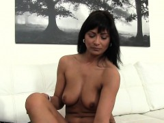 tanned-euro-beauty-bangs-fake-agent